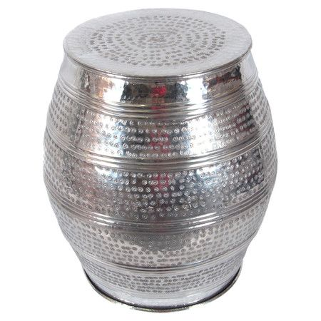 Hammered Aluminum Garden Stool With A Polished Finish. Product:  StoolConstruction Material: Aluminum