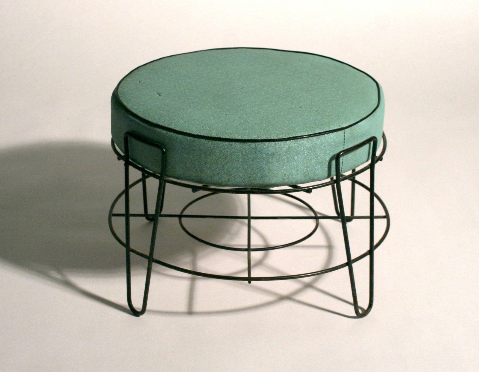 1950s Atomic Foot Stool Midcentury Modern Mid Century Mid Century Furniture