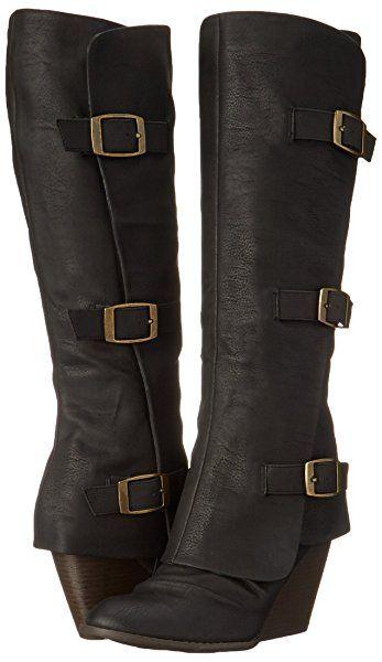 Fergalicious Women#39;s Epic Western Boot, Black, 5 M US