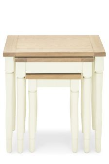 Set Of 3 Shaftesbury Painted Nest Tables
