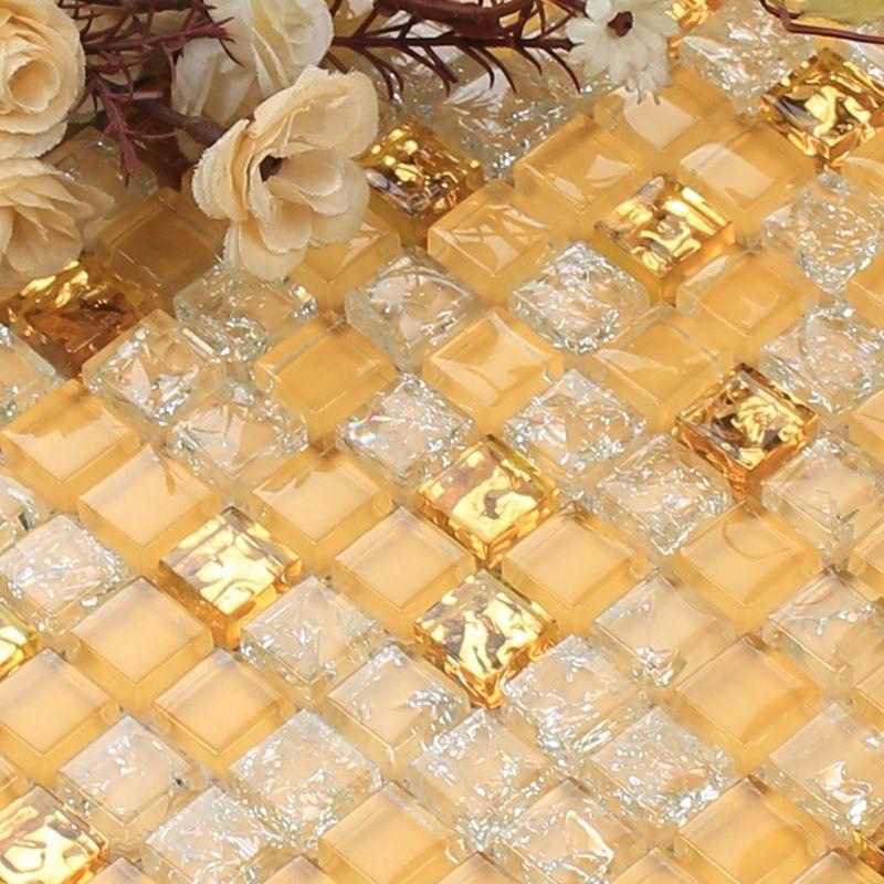 Vetro in cristallo foglio mosaici adesivi murali cucina for Adesivi per piscine