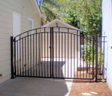 Metal Driveway Gate Fence Gate Design Fence Design Backyard Fences
