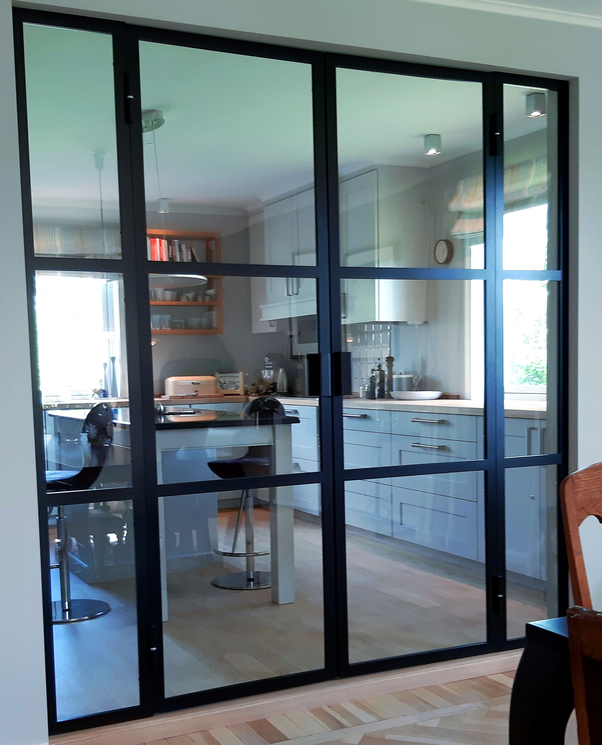 New double french glass and steel doors delivered to clients…