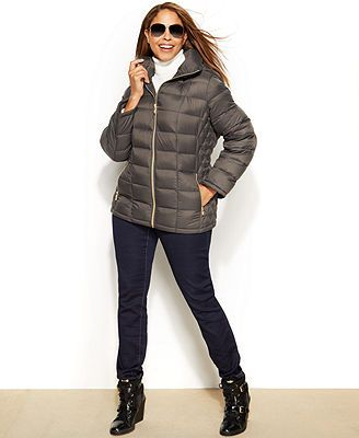 1853c7fd926 MICHAEL Michael Kors Plus Size Hooded Quilted Down Packable Puffer Coat