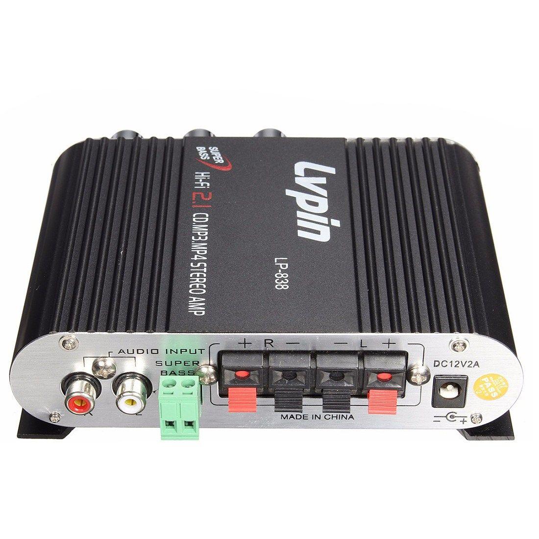 Pla For Lvpin 12v 200w Mini Hi Fi Stereo Amplifier Mp3 Car Radio Channels 2 House Super Bass