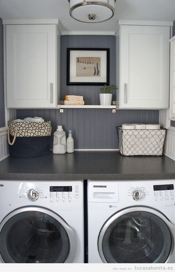 Ideas para decorar y organizar lavaderos peque os 5 - Cuarto lavadero pequeno ...