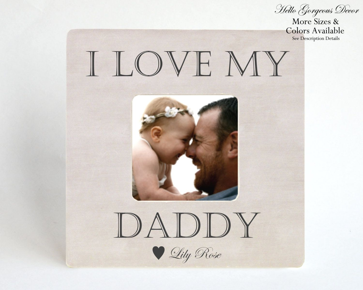 Gift to Father New Dad Picture Frame Personalized from Baby Kids ...