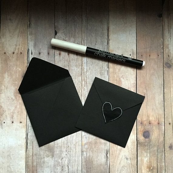 5 square chalkboard note cards. Small 3 blank by GingersnapPress