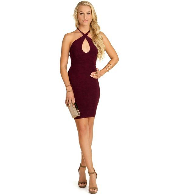 Burgundy Back That Lace Dress