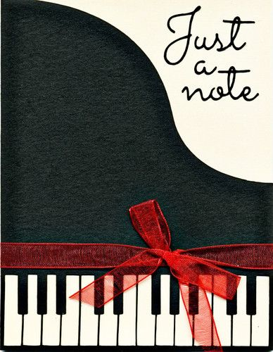 Just A Note Piano Card Kits Finished Card | eBay $8 00