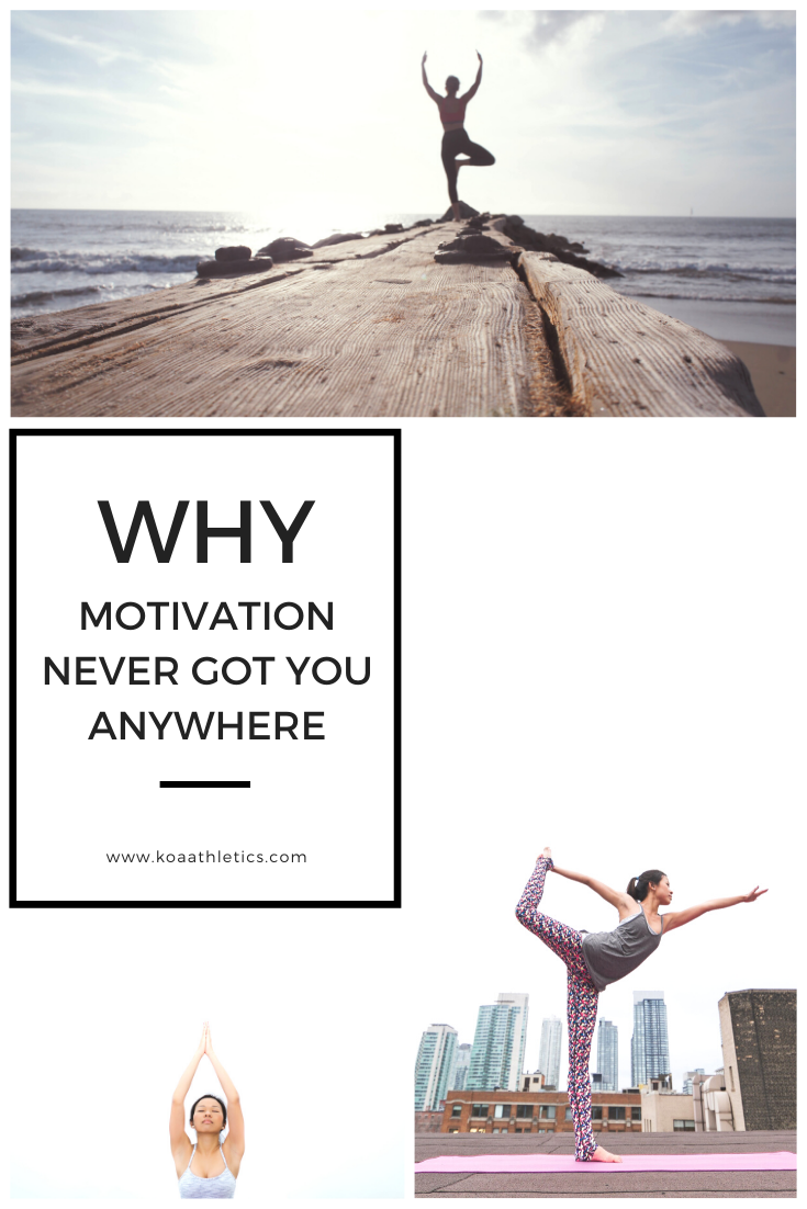 Why motivation never got you anywhere Learn how to kick feeling unmotivated and reach your goals daily Blog article by Casey Harrington with Koa Athletics