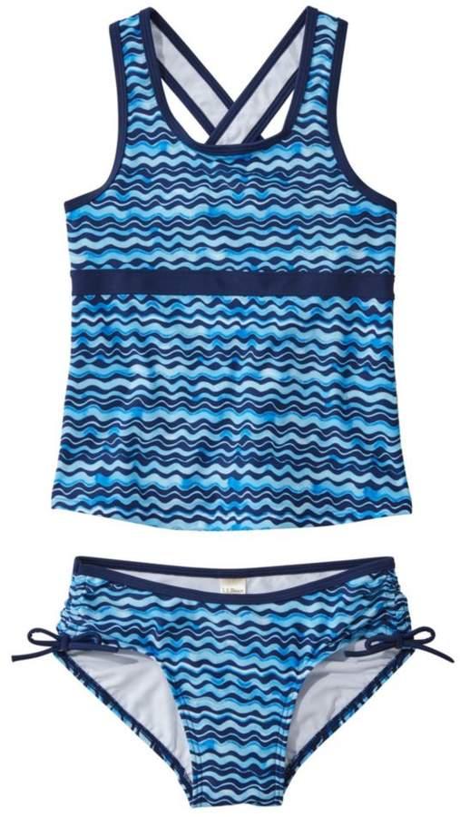 6462718cc649f L.L. Bean L.L.Bean Girls' Tide Surfer Swimsuit, Two-Piece Print in ...