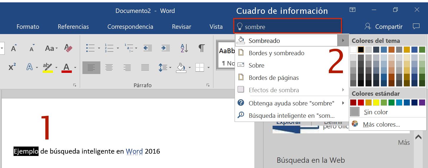 Cuadro de información de Office