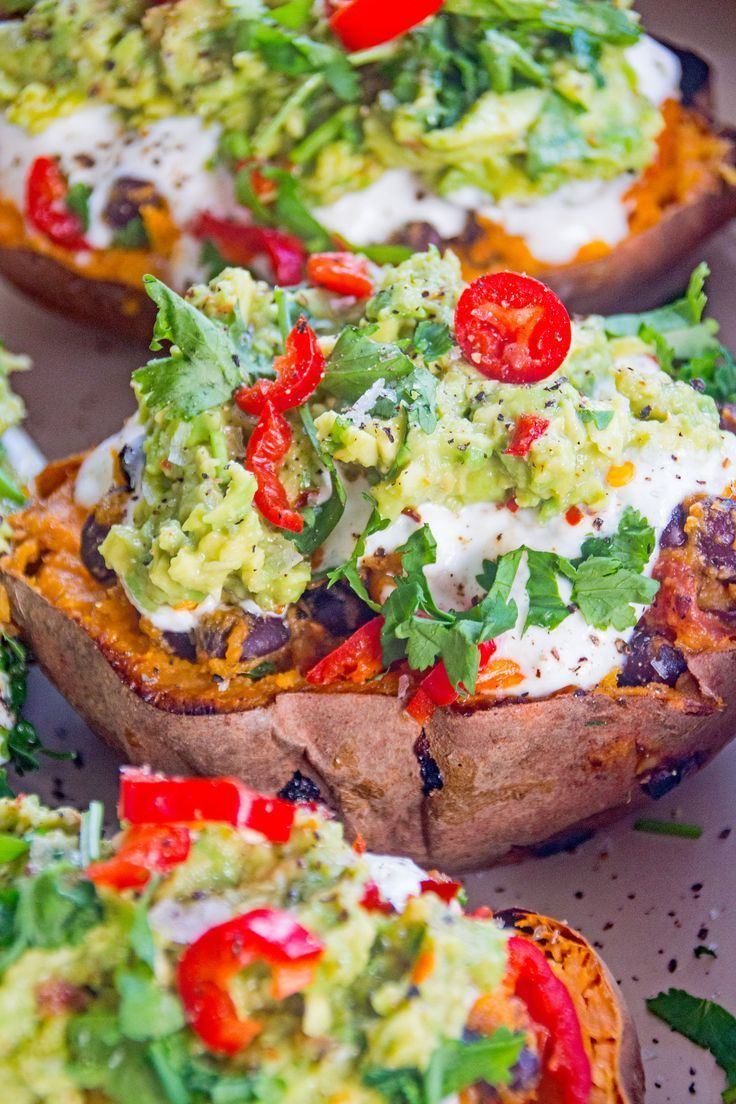 Photo of Loaded Mexican-Style Sweet Potato Skins Recipe · Deliciously Ella
