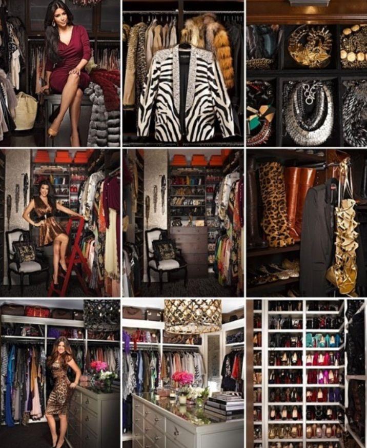 Inside the Kardashians Closet | Celebrity closets, Closet ...