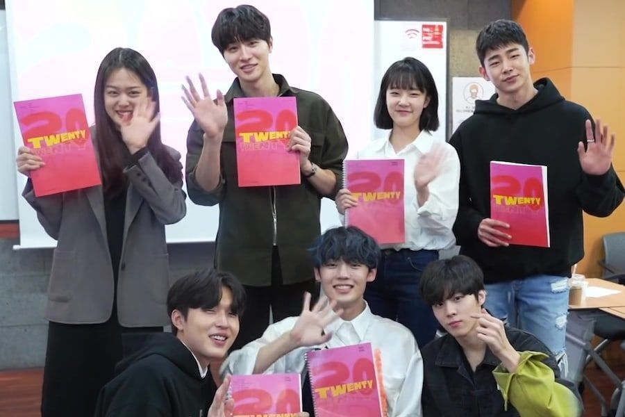 "Watch: Kim Woo Seok, Han Sung Min, A.C.E's Chan, And More Test Chemistry At ""Twenty-Twenty"" Script Reading"