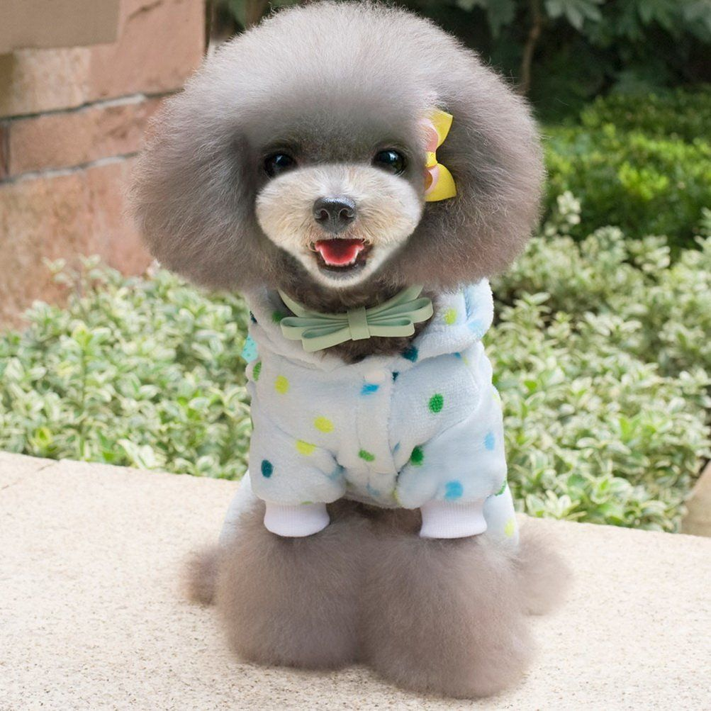 Pet Dog Cat Fleece Vest Clothes Coat Puppy Warm Shirt Sweater Winter Apparel M