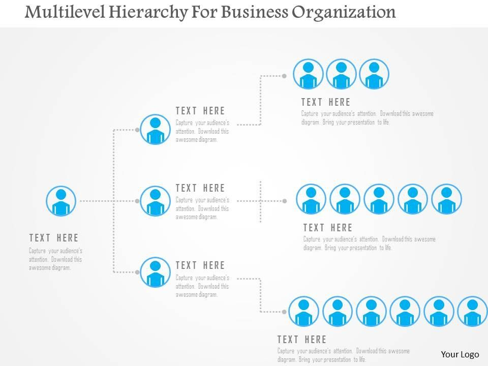 Multilevel Hierarchy For Business Organization Flat Powerpoint Design Slide01 Jpg 960 720 Booklet Printing Powerpoint Design Org Chart
