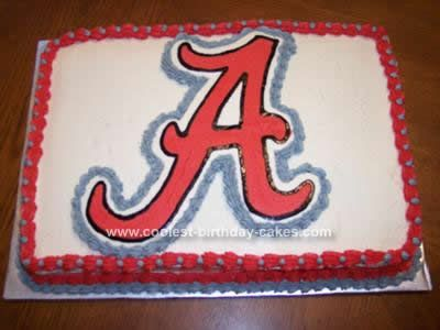 Coolest Alabama Crimson Tide Emblem Cake Alabama crimson Alabama