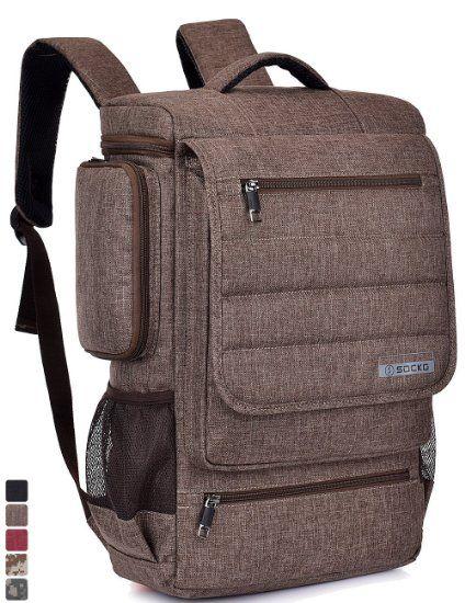 6c4b03f7acf1 Laptop Backpack ,SOCKO 17 Inch Multifunctional Unisex Luggage ...