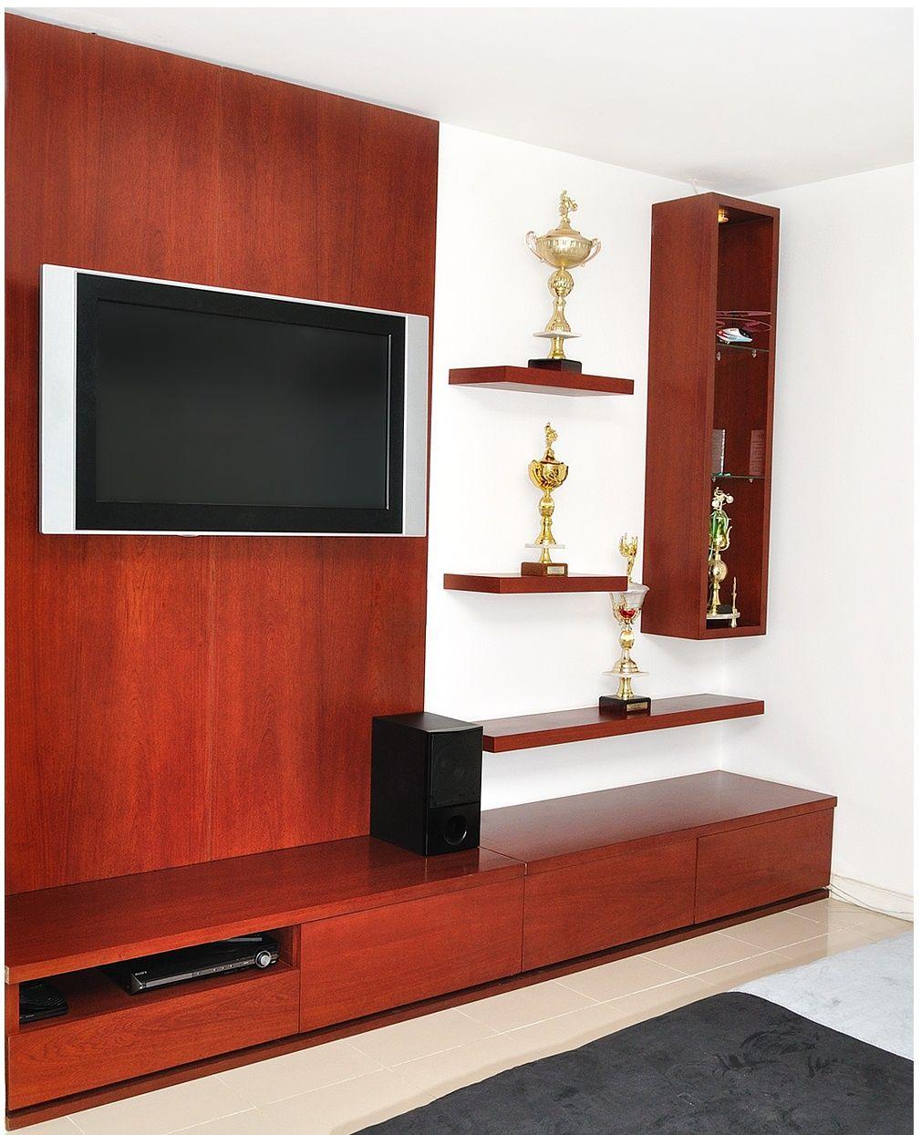 Mueble de tele con acabado de madera mueble tele - Muebles para teles ...