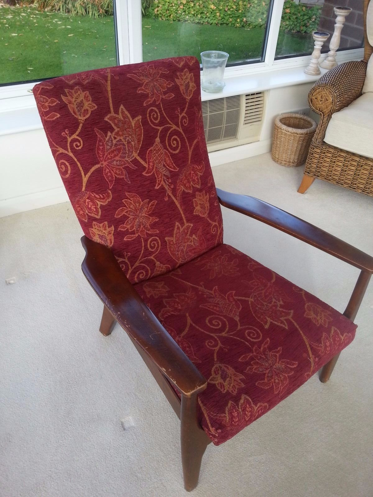 Vintage Retro Parker Knoll Armchair Easy Chair Wood Upholstered