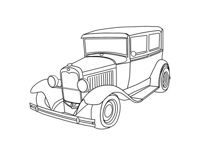 How To Draw An Old Truck Old Car Drawings Old Cars To Draw