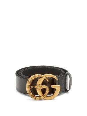 83b01c049 GG Running snake-embossed leather belt | Gucci | MATCHESFASHION.COM ...
