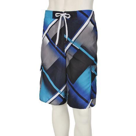 3f66a9571f Picture Swimwear - Airwalk Mens Prism Plaid Cargo Board Swim Shorts, Navy