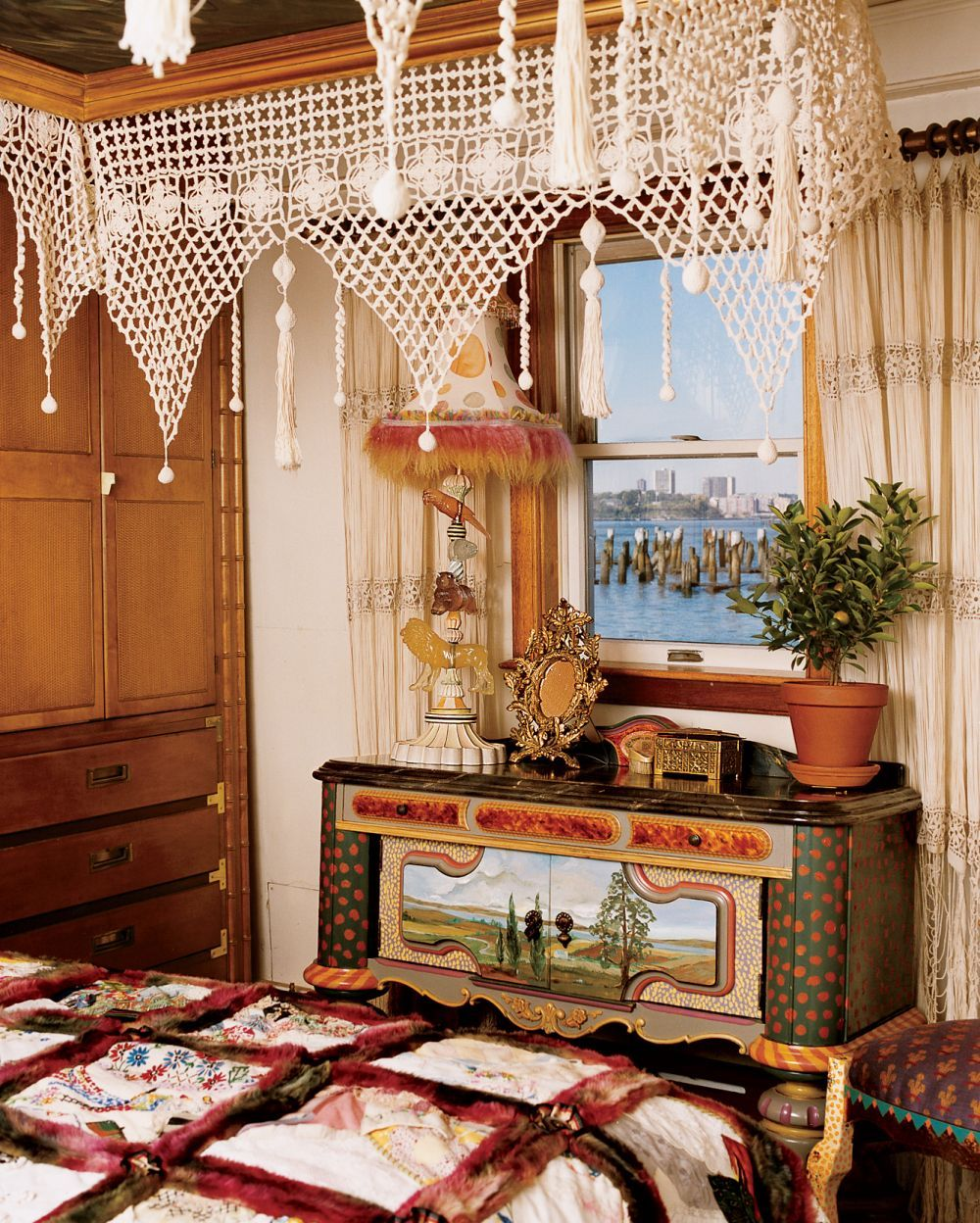exotic bedroom by victoria and richard mackenziechilds  house  - exotic bedroom by victoria and richard mackenziechilds