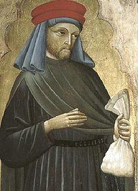 Saint homobonus prayer card