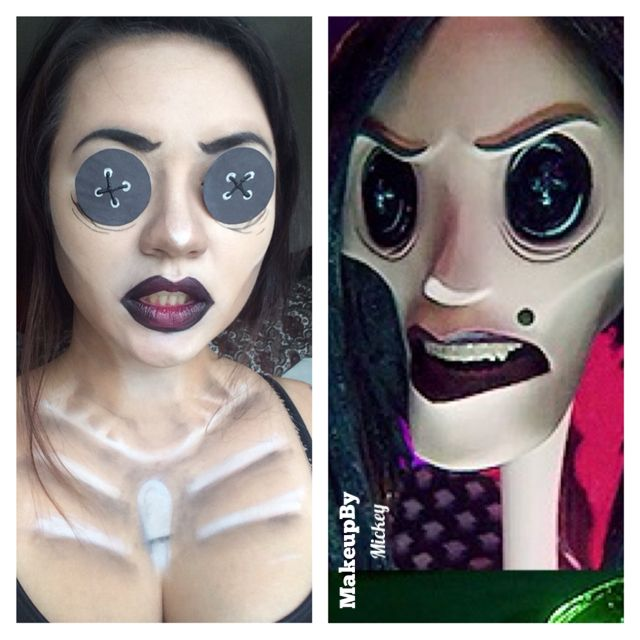 Other Mother From Coraline Halloween Makeup Inspiration Halloween Costumes Makeup Coraline Costume
