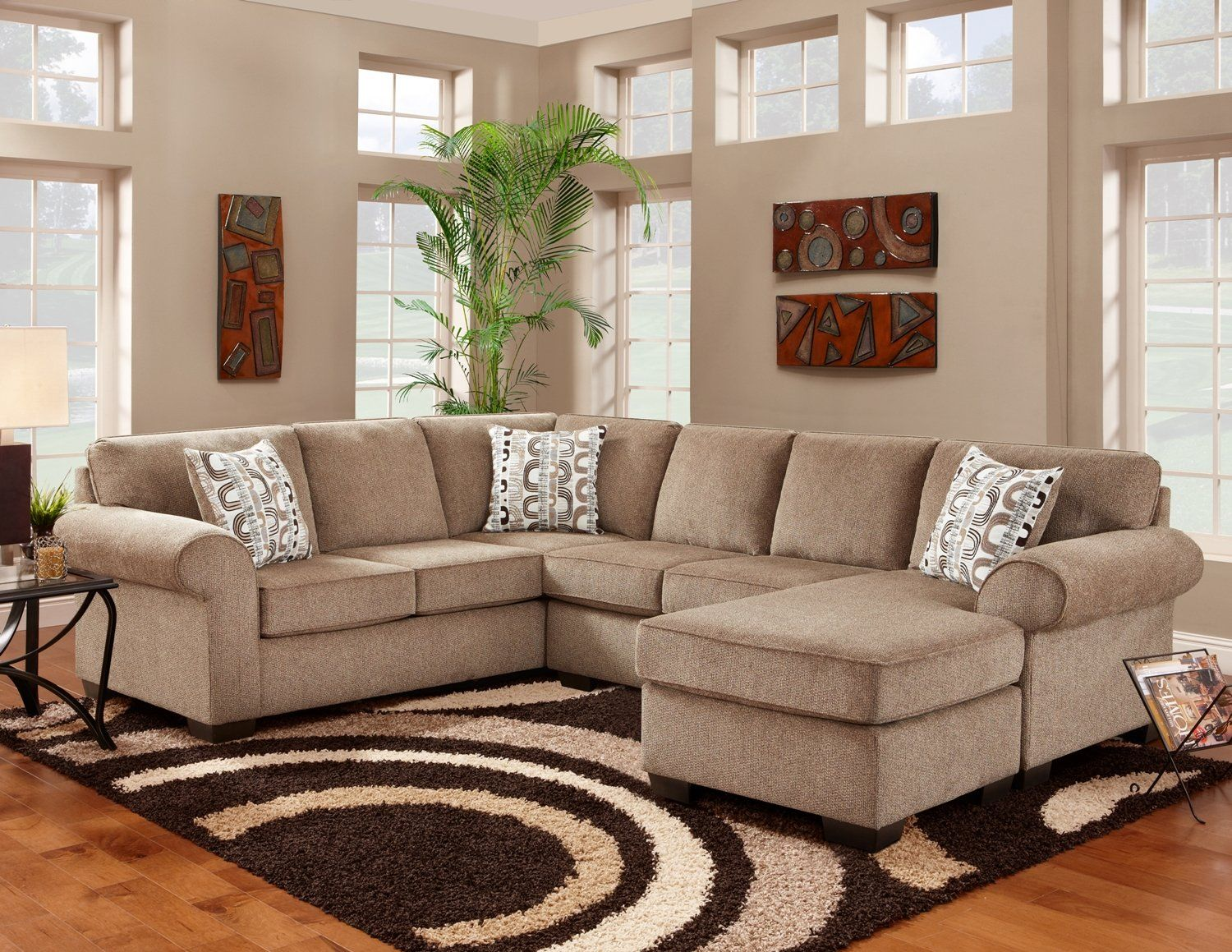 Surprising Affordable Furniture Jesse Cocoa Sectional Sofa For The Unemploymentrelief Wooden Chair Designs For Living Room Unemploymentrelieforg