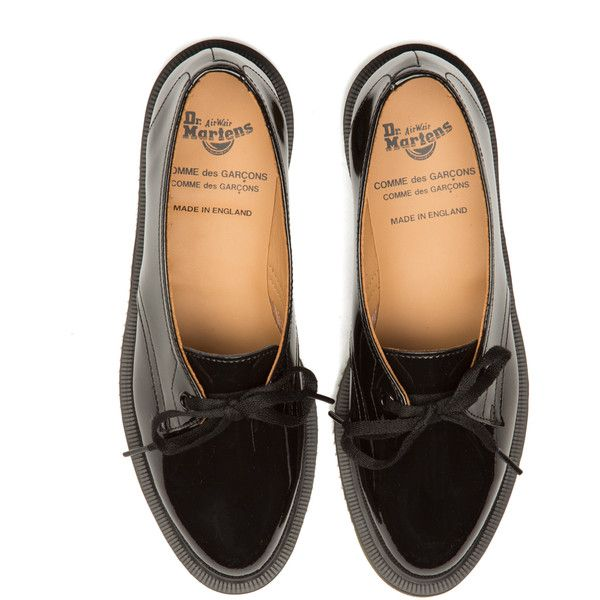 comme des garcons leather shoes