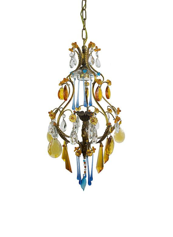 Vintage chandelier murano chandelier crystal chandelier colored vintage chandelier murano chandelier crystal chandelier colored chandelier antique chandelier italian antique lamp brass chandelier aloadofball Choice Image