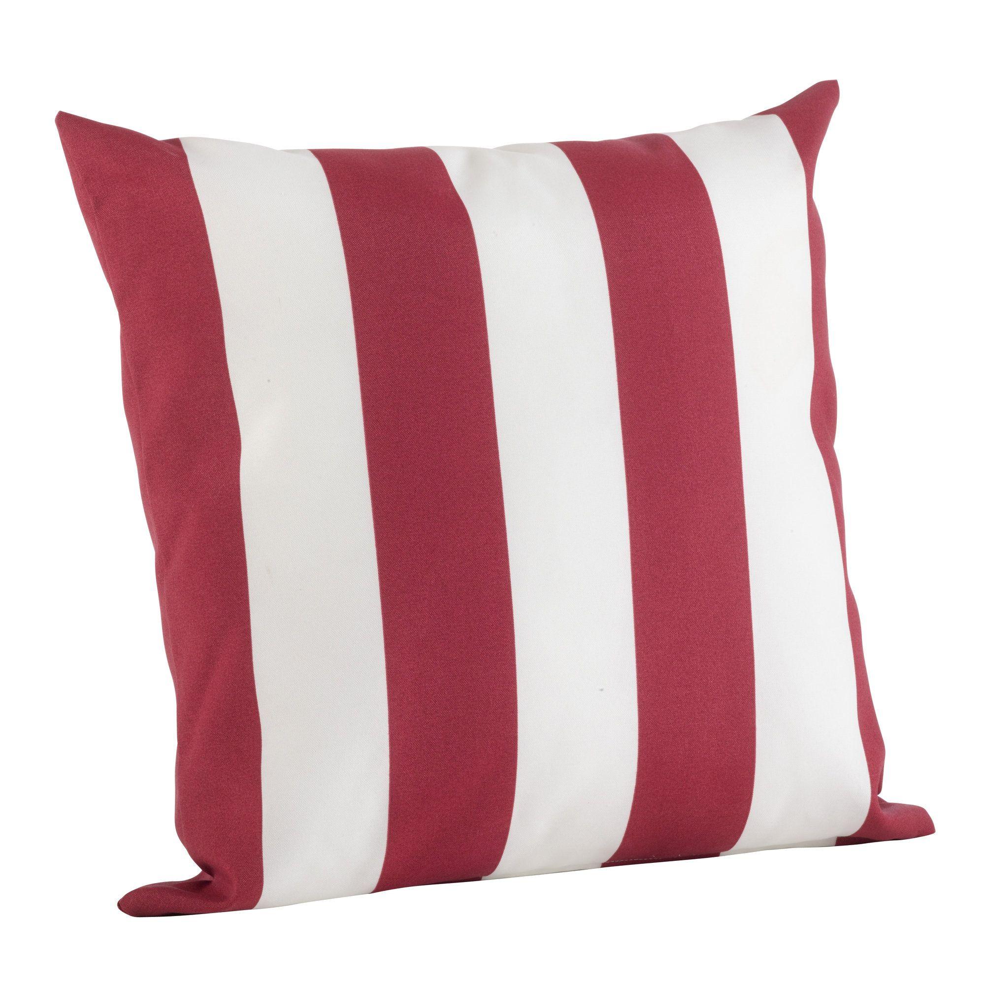 Classic Stripe Indoor Outdoor Throw Pillow Throw Pillows Outdoor Pillow Covers Striped Outdoor Pillow