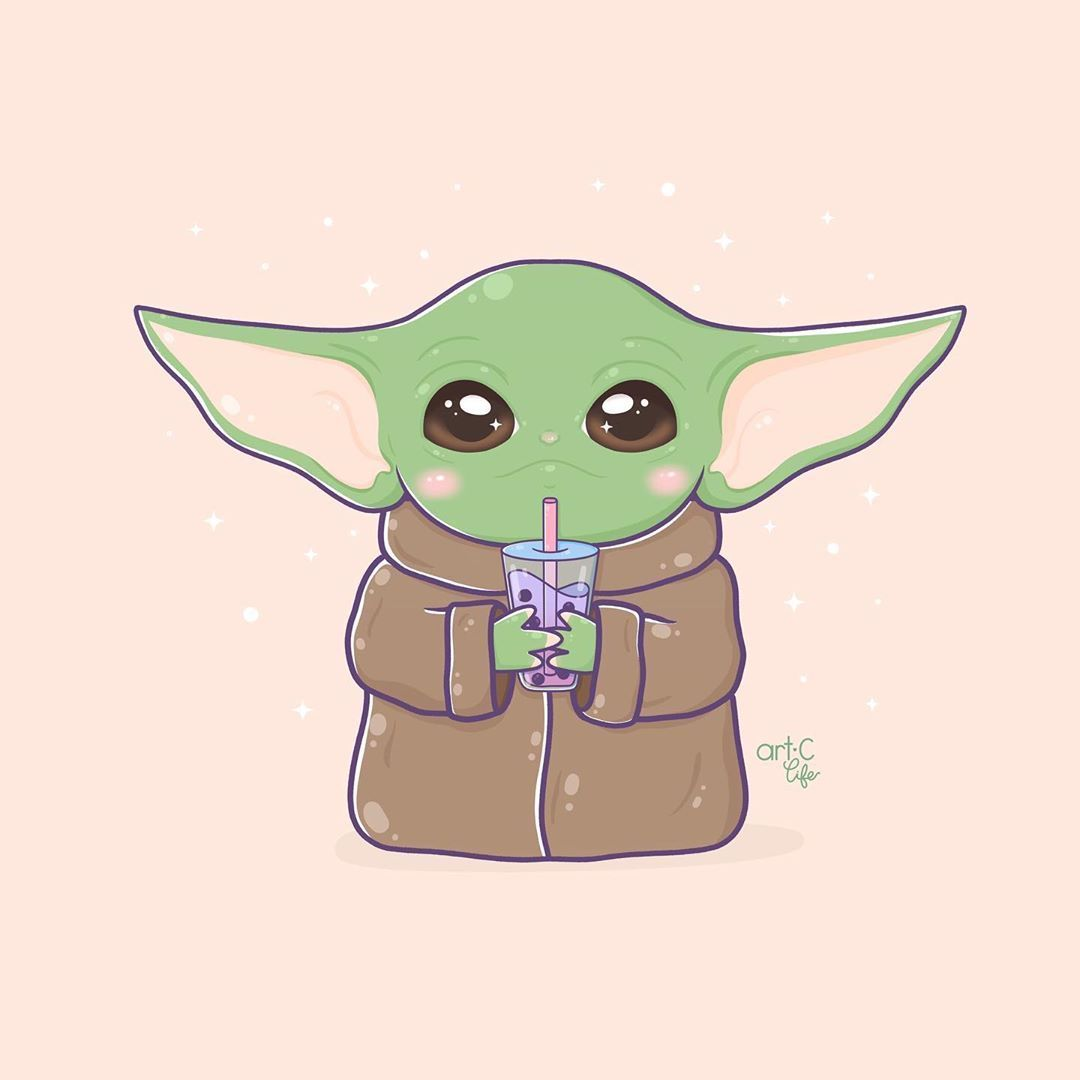 Art C Life On Instagram Baby Yoda Is The Most Adorable Thing I Ve Ever Seen This Year So Of Yoda Wallpaper Cute Cartoon Wallpapers Yoda Art