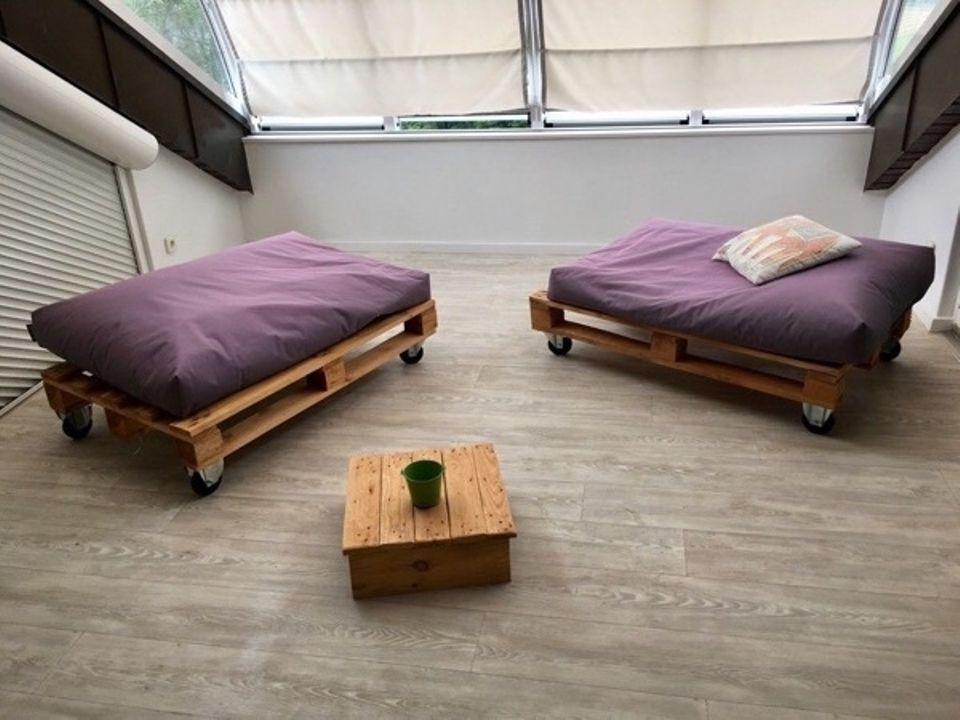 Paletten Lounge Möbel zum Nachbauen. Paletten findet Ihr natürlich ...