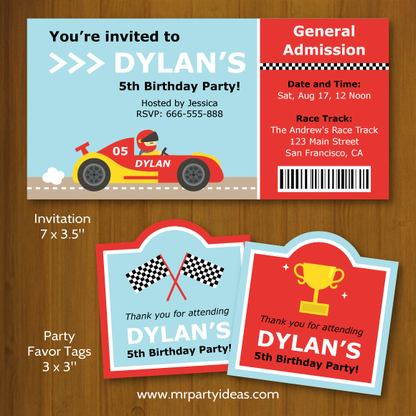 Race to start a birthday party with our Race Car Birthday Party #Printables! By mrpartyideas.com.