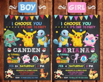Pokemon Birthday Invitation Etsy CA