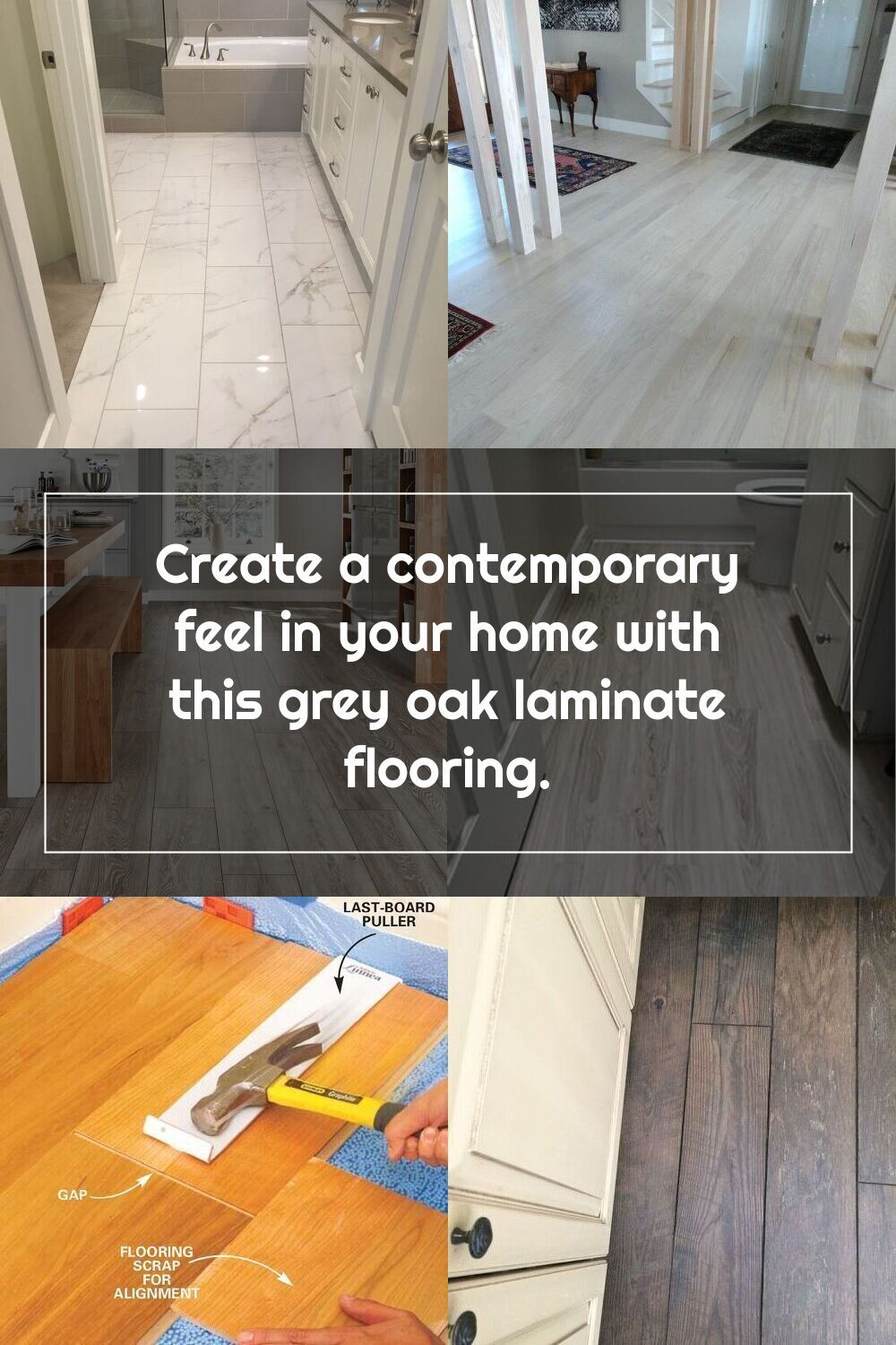 Create A Contemporary Feel In Your Home With This Grey Oak Laminate Flooring In 2020 Oak Laminate Flooring Oak Laminate Laminate Flooring