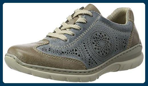 Rieker Damen L3206 Sneaker, Blau (SteelAzur 43), 40 EU 8CCzh