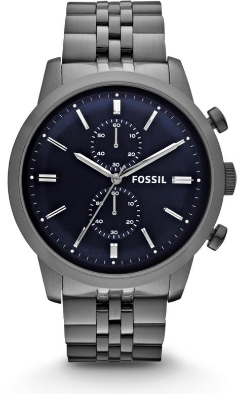 Fossil Townsman Chronograph Stainless Steel Watch Smoke Fossil Watches For Men Fossil Watches Mens Watches For Sale