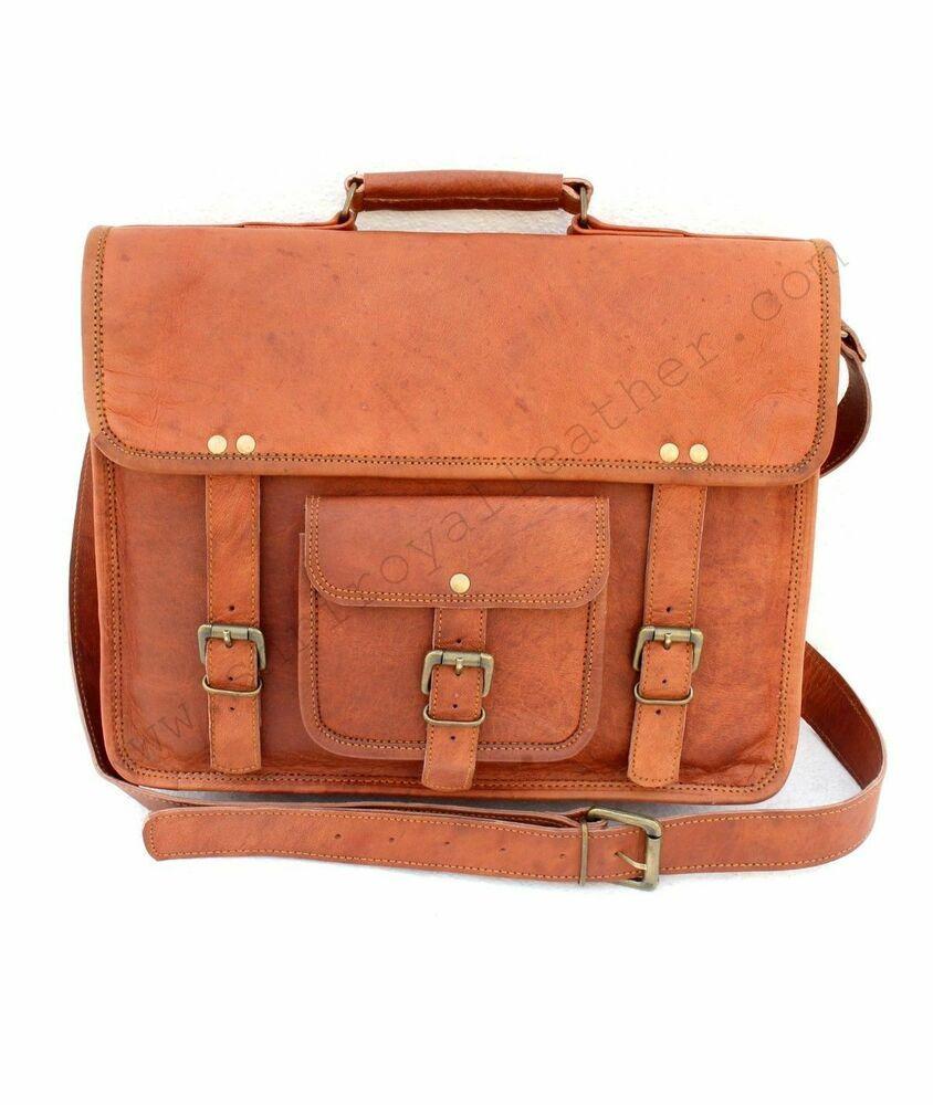 Bag Laptoptasche Umhängetasche Laptop Leder Herren Damen Vintage Quist