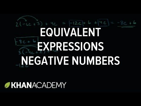 DONE - 6.EE.A.4 - Equivalent expressions with negative numbers