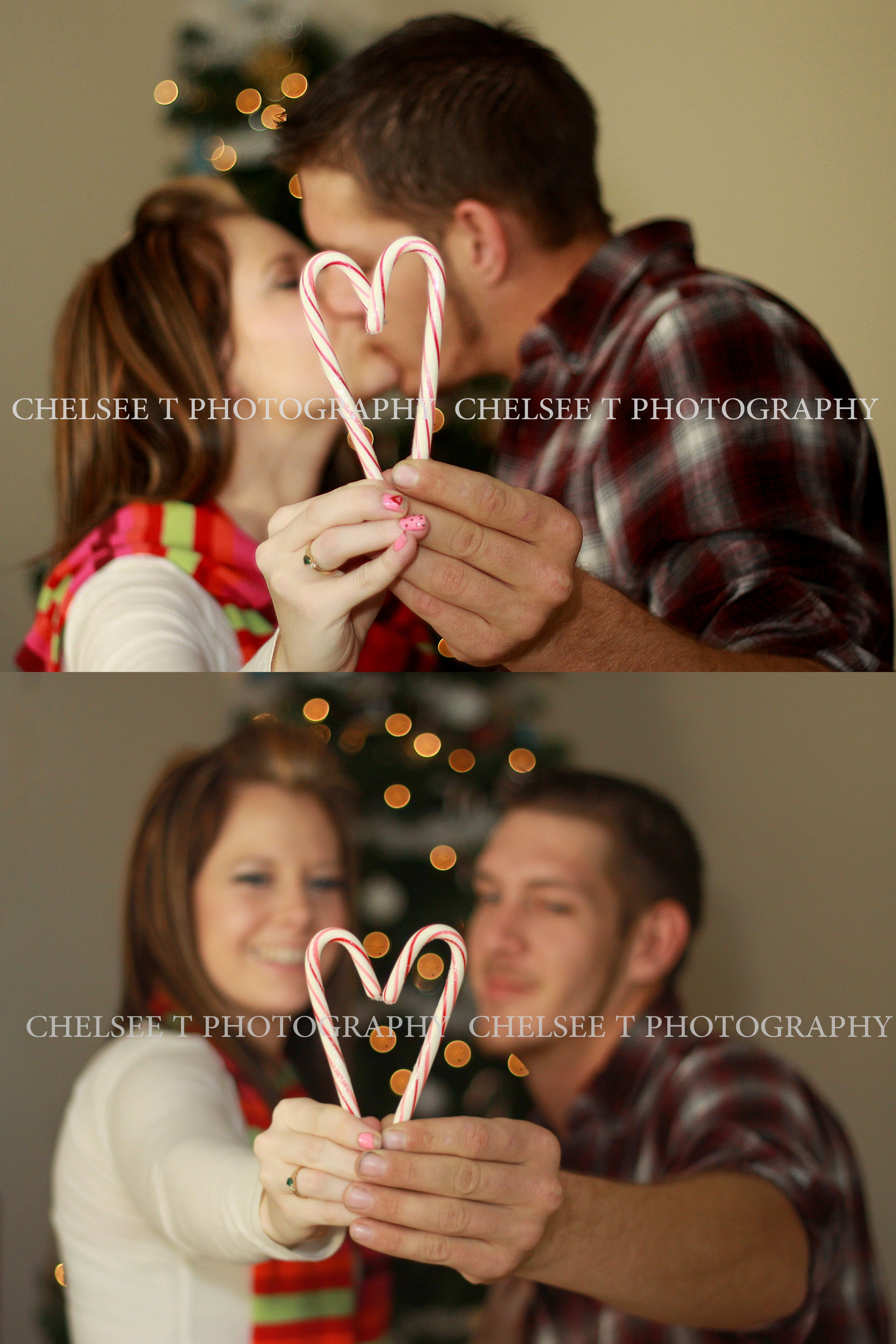 couple christmas photography pose ideas   have each person hold one candy cane to form in the shape of a heart :)