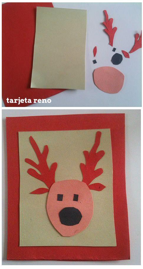 como hacer tarjeta casera de navidad - Postales De Navidad Caseras