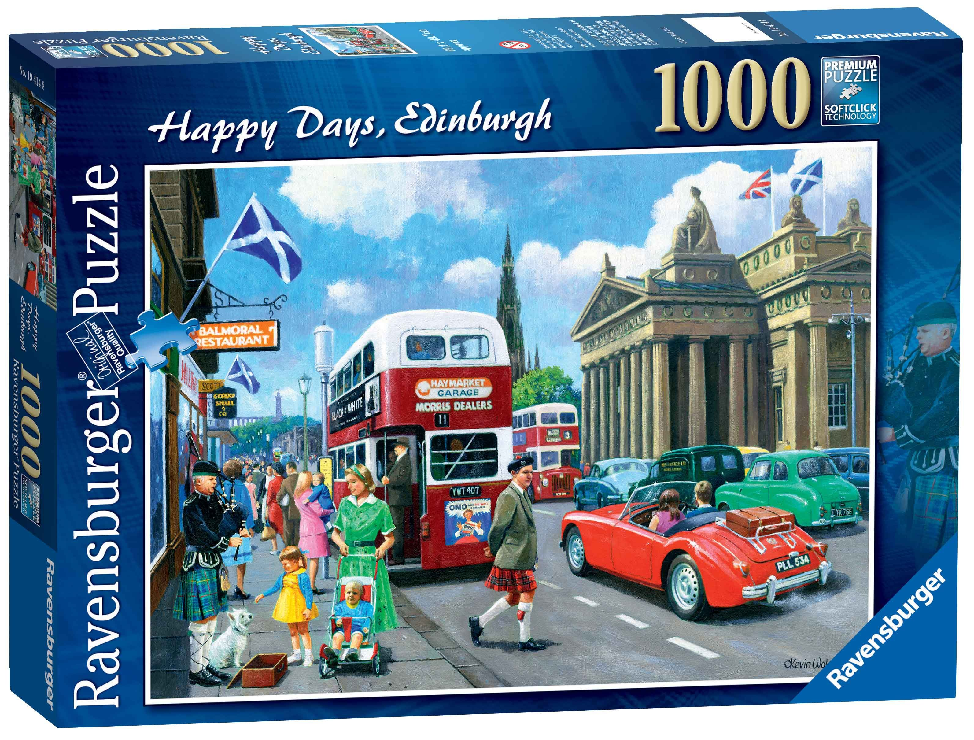 ADULT JIGSAW PUZZLE 14292 RAVENSBURGER HAPPY DAYS AT WORK THE CLIPPIE 500PC