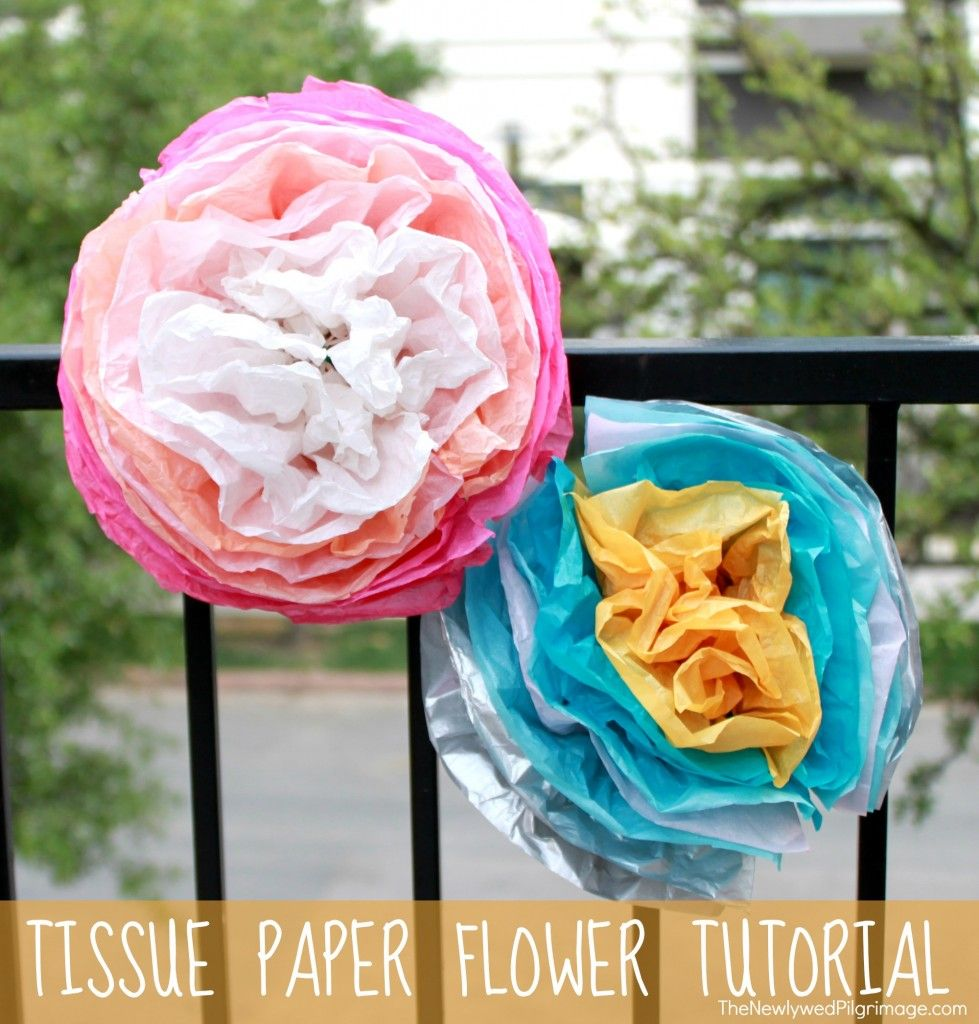 Tissue paper flower tutorial the newlywed pilgrimage paper diy tissue paper flower tutorial perfect for mothers day or cinco de mayo mightylinksfo