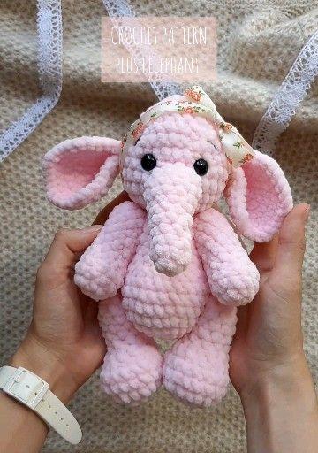 Photo of Häkelmuster Elefant, Amigurumi Häkelmuster Elefant, Amigurumi Tier Häkelanleitung, Häkelspielzeug einfaches Muster, Häkelanleitung
